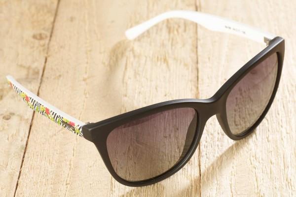 Toledo - Sonnenbrille mit floralem Muster - schwarz
