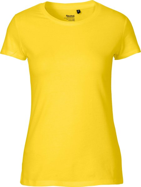 Fitted T-Shirt aus Fairtrade Bio-Baumwolle - yellow