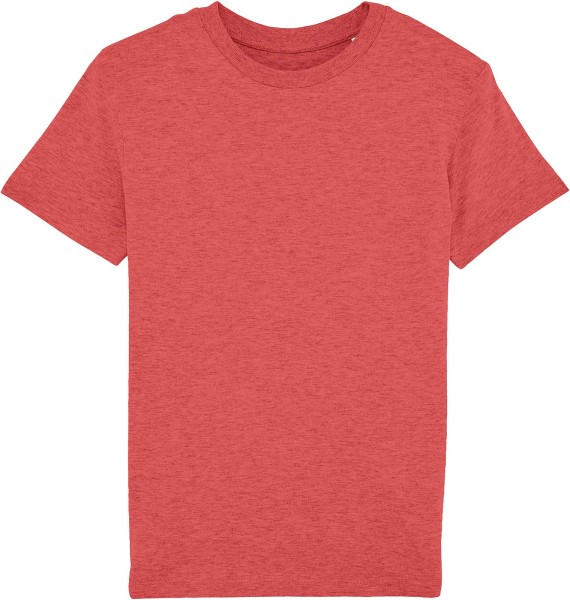 Kinder T-Shirt - Mini Paints Bio-Baumwolle - rot meliert