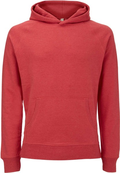 Recycled Unisex Hoodie aus Baumwolle und Polyester - melange red