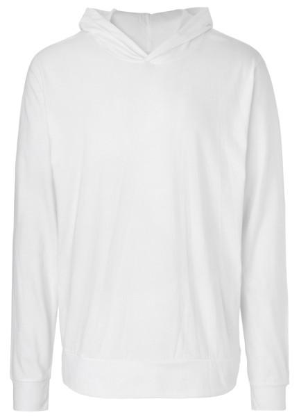 Jersey Hoodie Biobaumwolle white - O62101