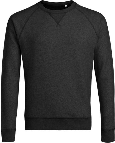 Strolls - Sweatshirt aus Bio-Baumwolle - dunkelgrau meliert