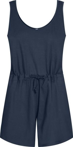 Kurzer Jersey Jumpsuit aus Bio-Baumwolle - dunkelblau