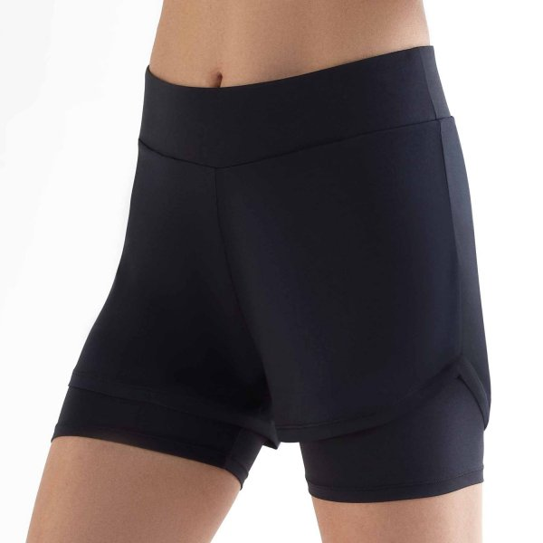 Workout Shorts aus Recycle-Polyester - black