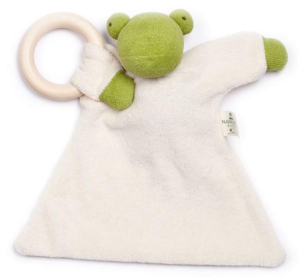 Nuckeltier Frosch mit Ahornring - Puppe/Tuch aus Bio-Baumwolle - Bild 1