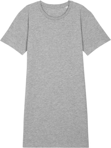 Jersey-Kleid aus Biobaumwolle - heather grey