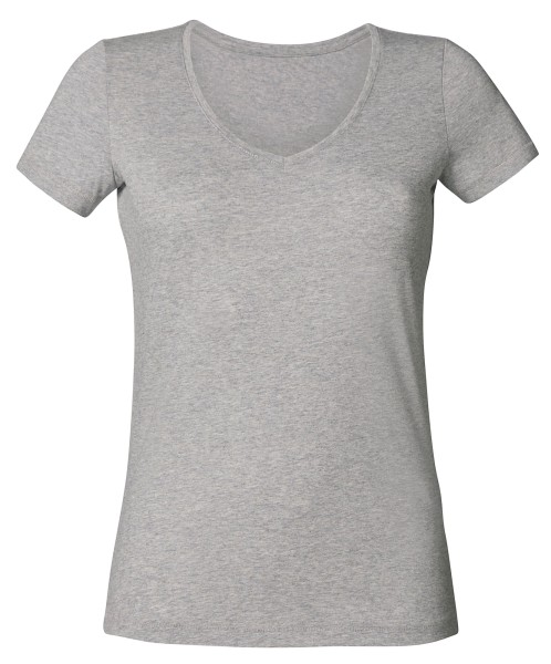 V-Neck T-Shirt Biobaumwolle grau - Chooses