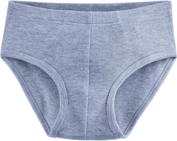 Jungen Slip aus Bio-Baumwolle - blue melange