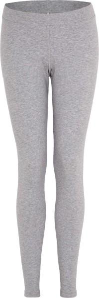 Leggings aus Bio-Baumwoll-Jersey - grau-meliert