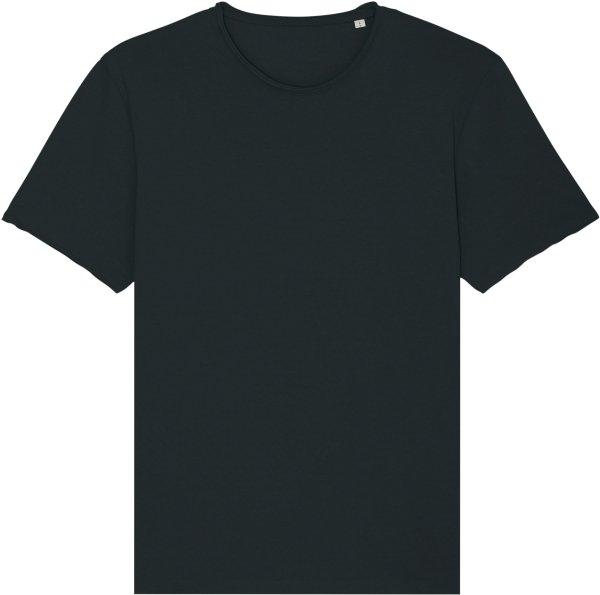Raw Edge T-Shirt aus Bio-Baumwolle - black