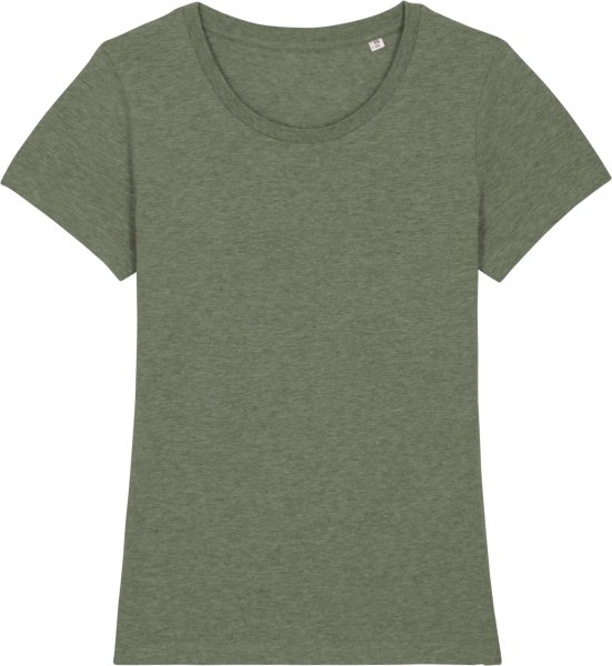 T-Shirt aus Bio-Baumwolle - mid heather khaki