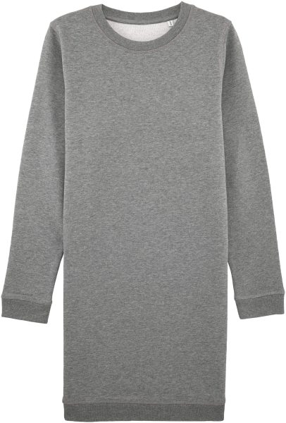Sweatshirtkleid aus Bio-Baumwolle - mid heather grey