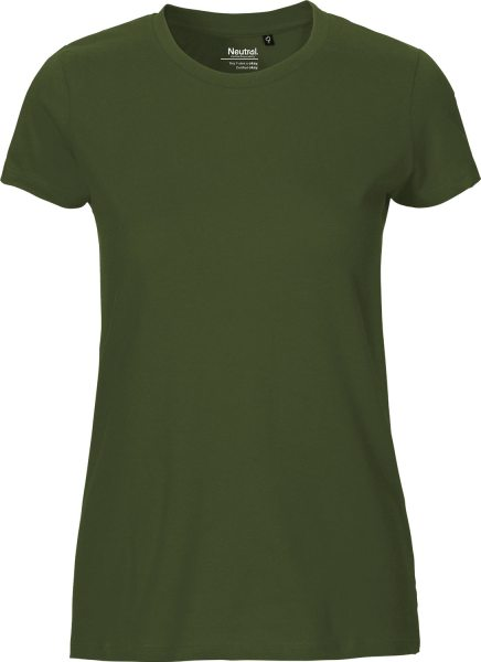 Fitted T-Shirt aus Fairtrade Bio-Baumwolle - military
