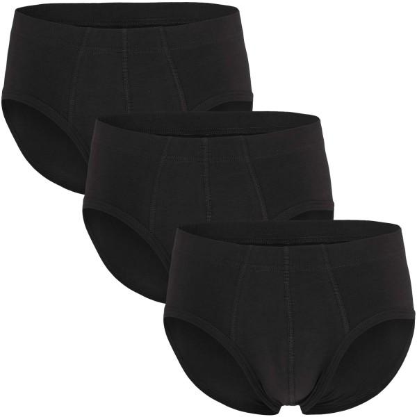Slip aus Bio-Baumwolle - schwarz - 3er-Pack