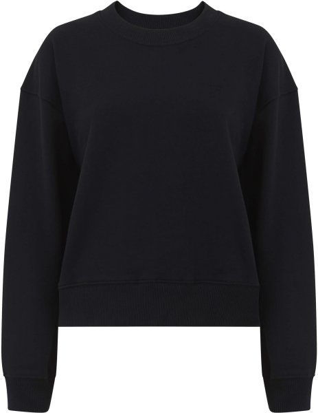 Schweres Sweatshirt aus Biobaumwolle - black