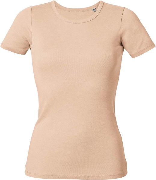 Recalls - Rippstrick-T-Shirt aus Bio-Baumwolle - pale peach - Bild 1