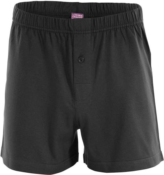 Boxer Shorts aus Biobaumwolle - schwarz, klassisch, gut!