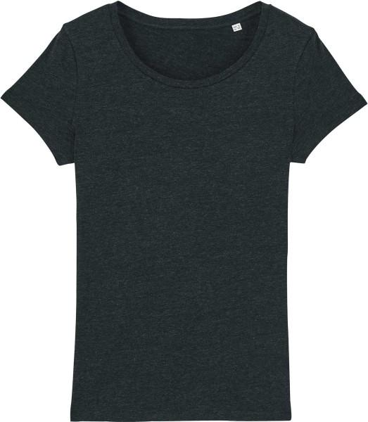 Jersey-Shirt aus Bio-Baumwolle - heather black denim