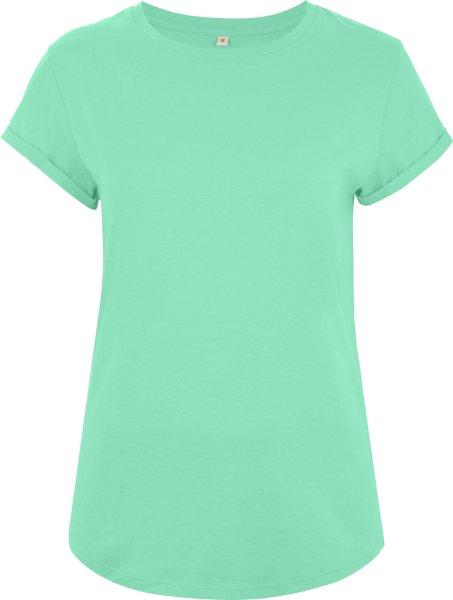 Organic Rolled Sleeve T-Shirt - mint green