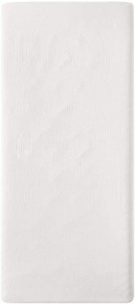 Satin-Spannbetttuch aus Bio-Baumwolle 100x200cm - offwhite