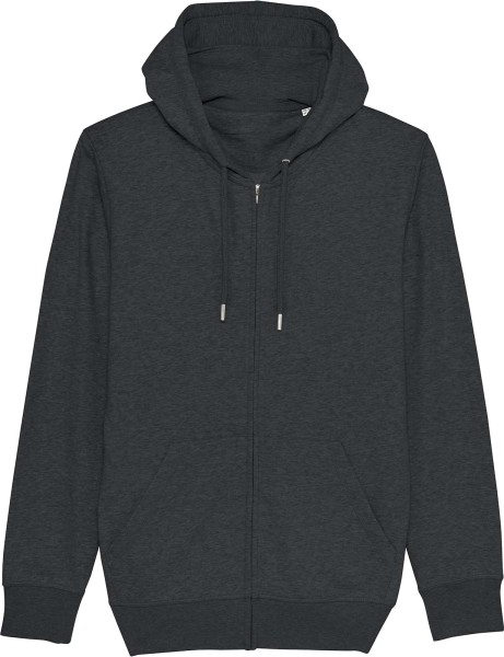 Unisex Kapuzenjacke aus Bio-Baumwolle - dark heather grey