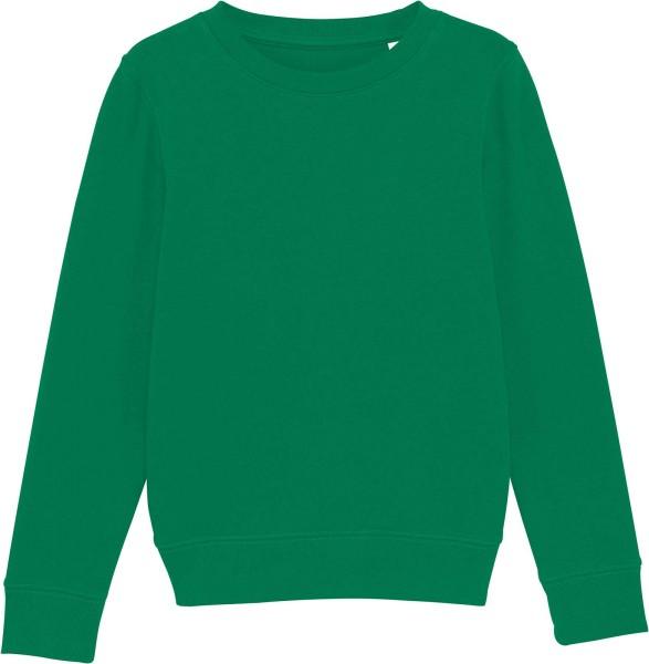 Kinder Sweatshirt aus Bio-Baumwolle - varsity green