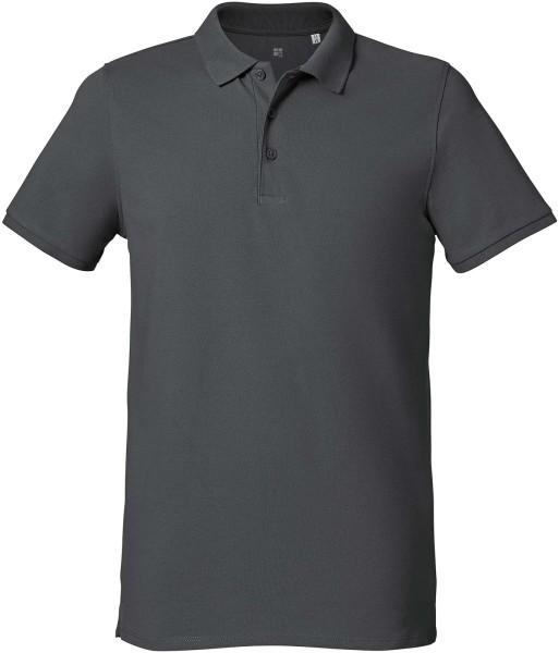 Klassisches Poloshirt Bio-Baumwolle - anthracite