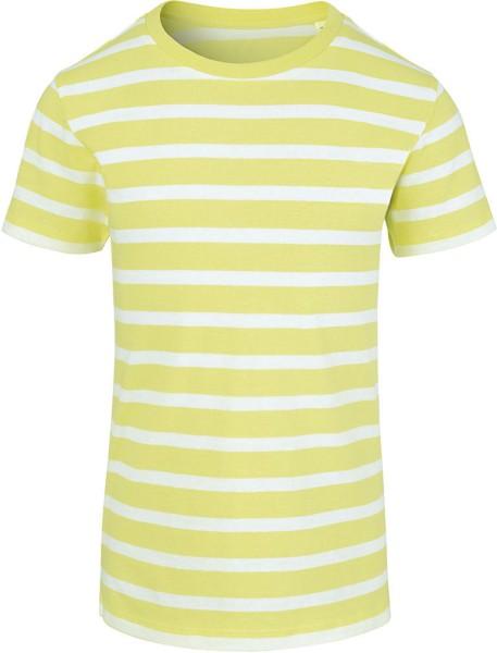 Kinder T-Shirt gestreift gelb Bio-Baumwolle