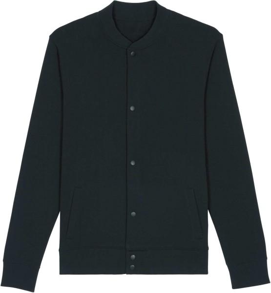 Sweatshirt-Bomberjacke aus Bio-Baumwolle - black