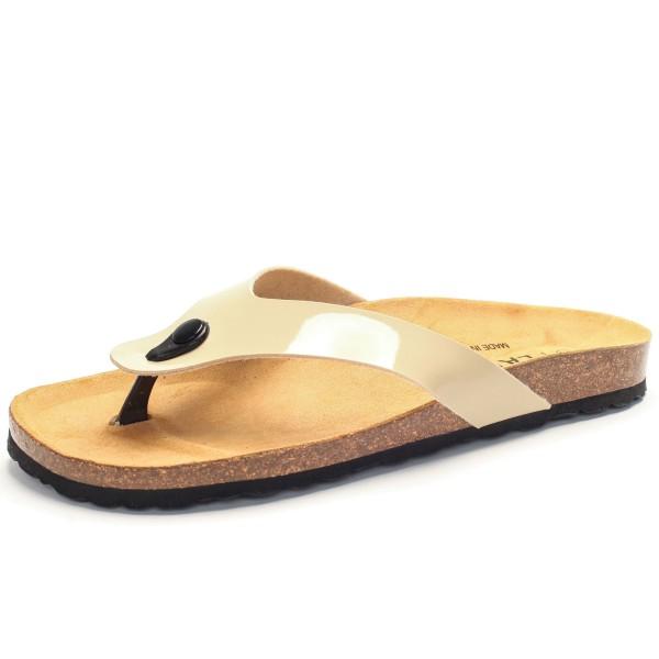uk availability f0875 79df8 Zehentrenner mit Fußbett - charol sintetico - beige