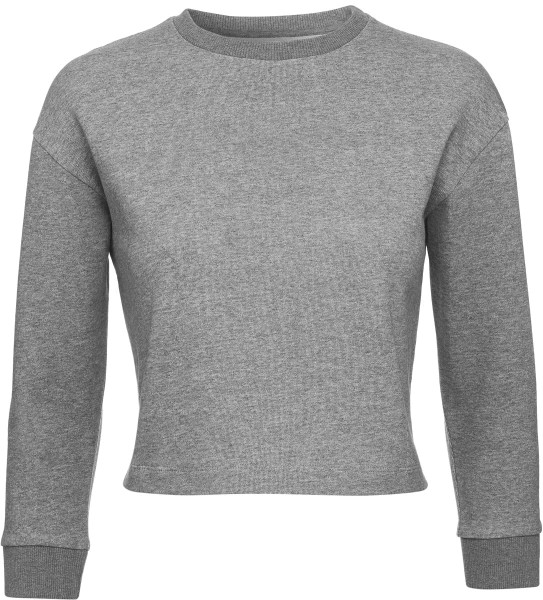 Glides - Cropped-Sweater aus Biobaumwolle - mid heather grey - Bild 1