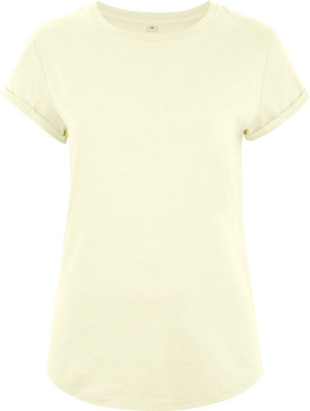 Organic Rolled Sleeve T-Shirt - ecru