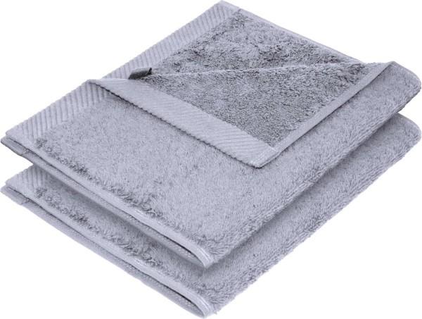 Flauschiges Handtuch aus Bio-Baumwolle 2er-Pack - 30x50 lilac grey