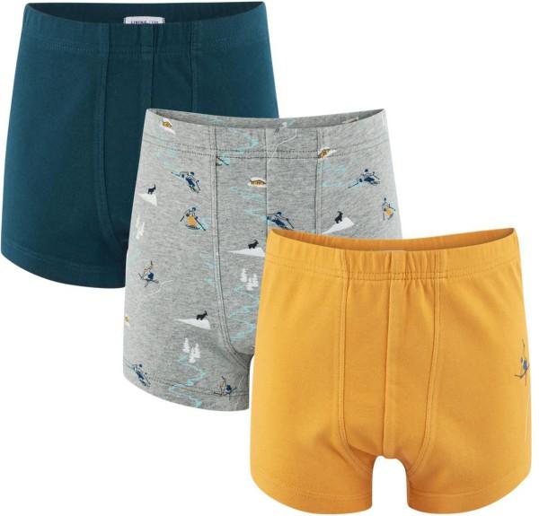 Jungen Pants aus Bio-Baumwolle - 3er-Pack - grey melange/petrol
