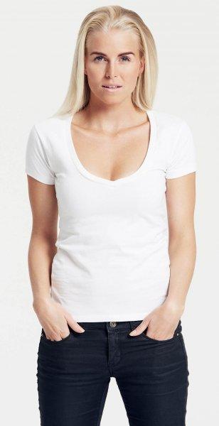 Organic Deep V-Neck T-Shirt Fairtrade weiss - Bild 1