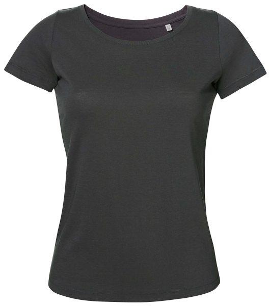 Loves T-Shirt Damen Bio-Baumwolle anthrazit
