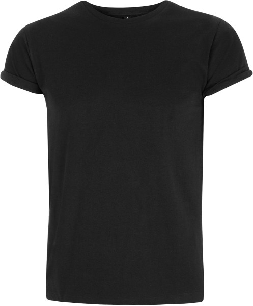 Organic Rolled-Up Sleeve T-Shirt schwarz