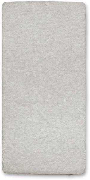 Spannbettuch aus Bio-Baumwolle - beige-meliert - 100 x 200 cm