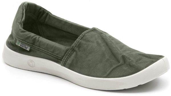 Slipper aus Bio-Baumwolle - kaki
