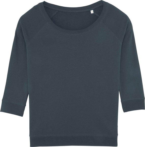 3/4-Arm Sweatshirt aus Bio-Baumwolle und Tencel - india ink grey