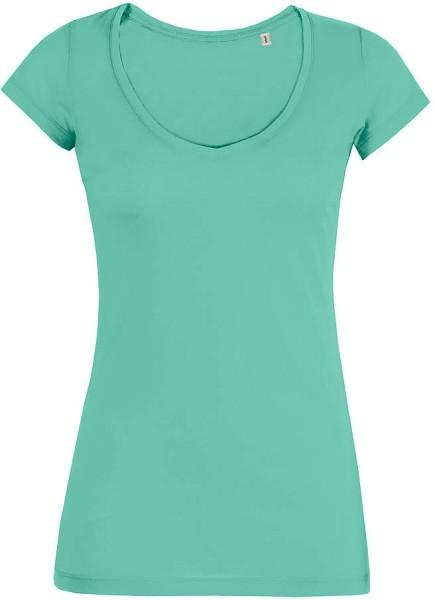 Smiles - V-Neck T-Shirt Bio-Baumwolle - mint green - Bild 1