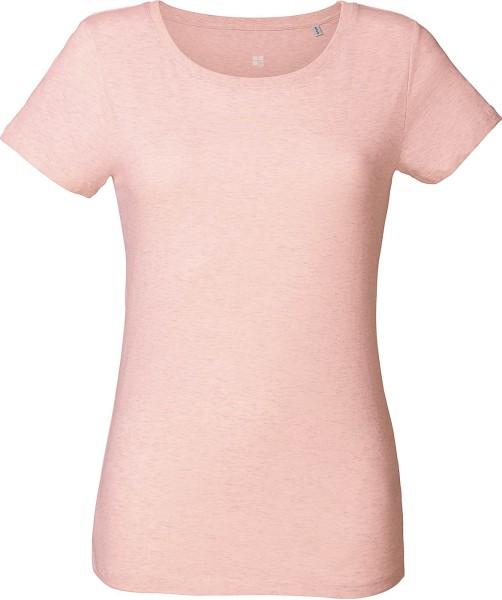 T-Shirt aus Bio-Baumwolle - cream heather pink