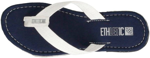 Fair Flips - Fairtrade-Flipflops - Ocean Blue/Just White