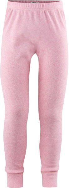 Kinder Lange Unterhose aus Bio-Baumwolle - rose melange