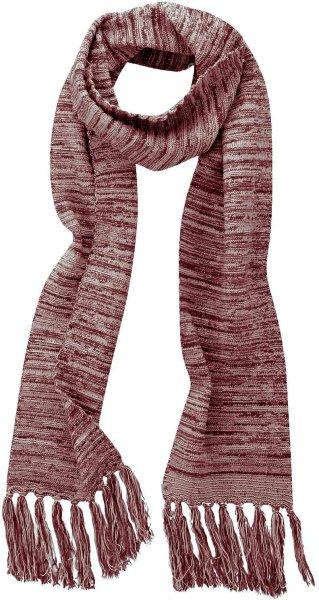 Fransenschal aus Bio-Baumwolle und Hanf - chestnut-grey - Bild 1