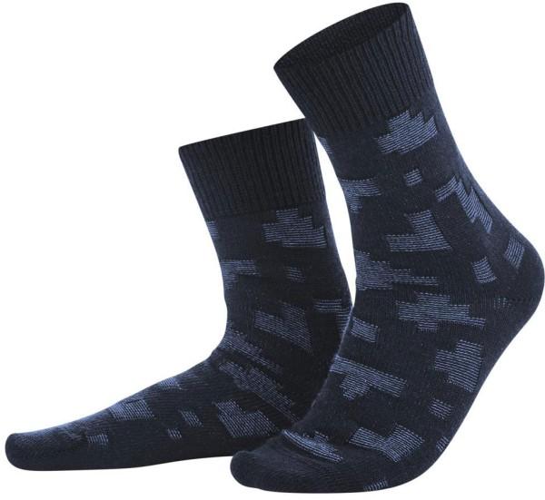 Socken aus Bio-Wolle und Bio-Baumwolle - navy