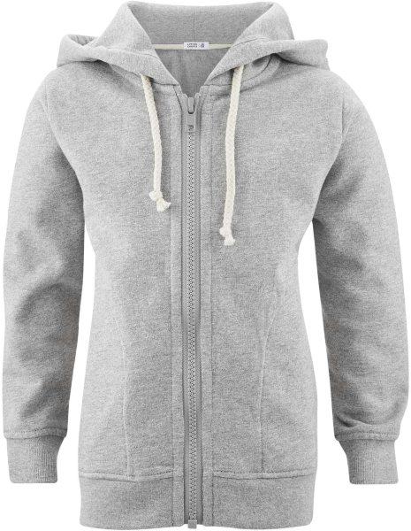 Kinder Kapuzenjacke aus Bio-Baumwolle – grey melange