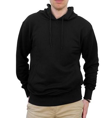 Organic Fashion Pullover Hoodie schwarz - Bild 1