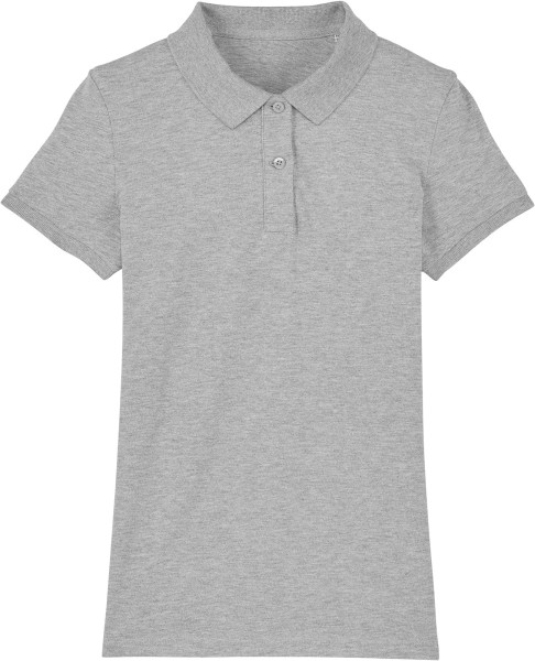 Piqué-Poloshirt aus Bio-Baumwolle - heather grey