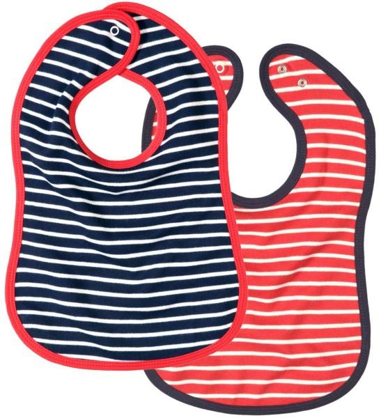 Baby Lätzchen aus Biobaumwolle - 2er-Set gestreift - Bild 1